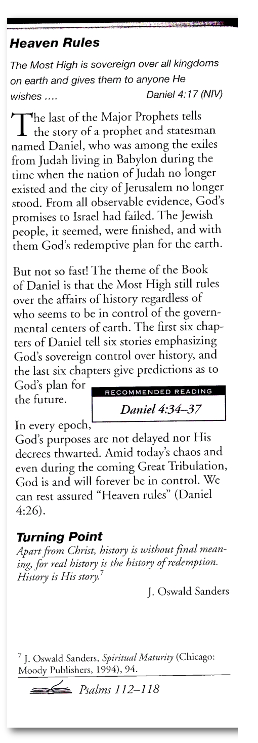 Dr David Jeremiah PresentsTurning Points July 25
